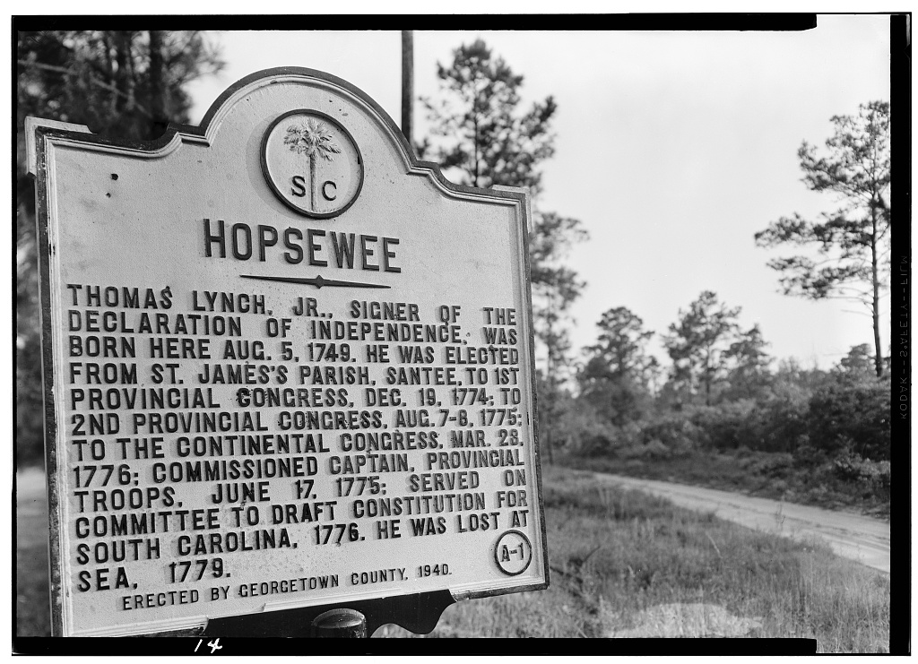 may-13-1958-historical-marker-hopsewee-plantation-u-s-routes-17-701-santee-river-north-georgetown-georgetown-county-sc