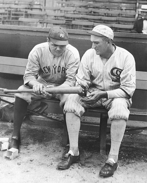 Babe Ruth and Shoeless Joe Jackson