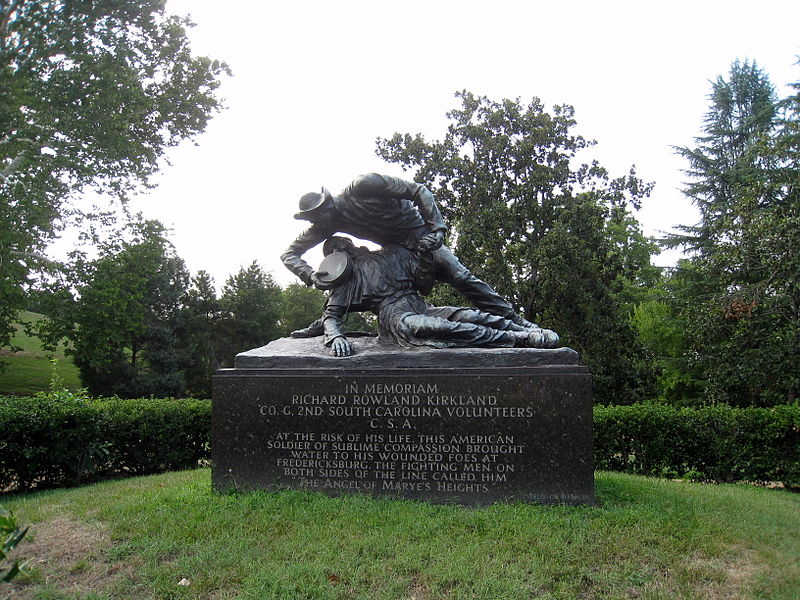 Richard Rowland Kirkland Monument in the Fredericksburg and Spotsylvania National Military Park