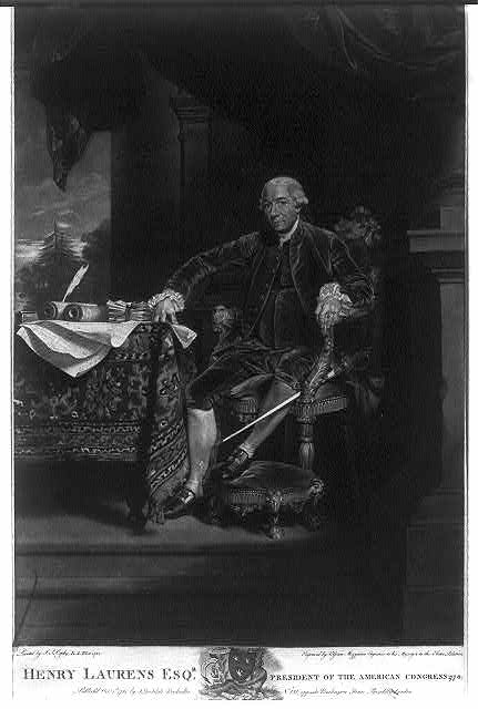 Henry Laurens Esq'r president of the American Congress 1778